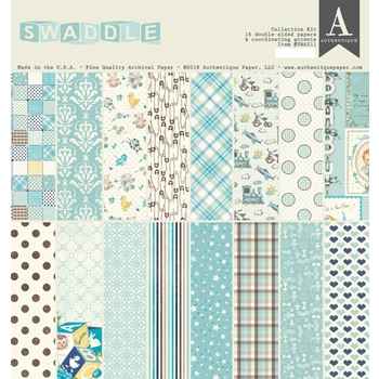Authentique SWADDLE BOY 12 x 12 Collection Kit swa211