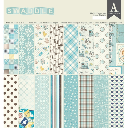 Authentique SWADDLE BOY 12 x 12 Paper Pad swa212 Preview Image