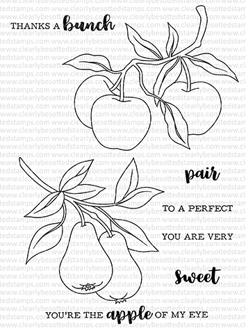 Clearly Besotted APPLES AND PEARS Clear Stamps Preview Image