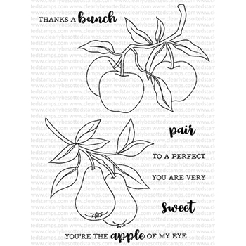 Clearly Besotted APPLES AND PEARS Clear Stamps