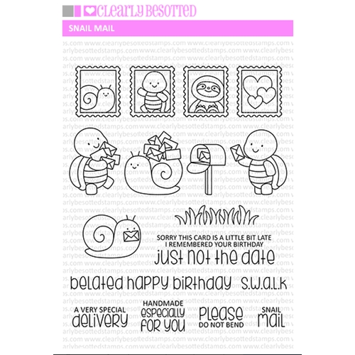 Clearly Besotted SNAIL MAIL Clear Stamps Preview Image