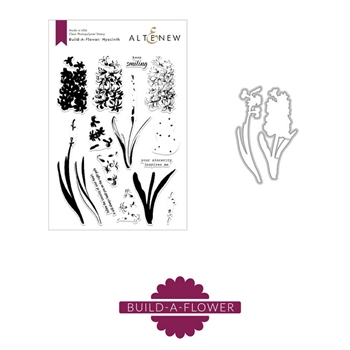 Altenew BUILD A FLOWER HYACINTH Clear Stamp and Die Set ALT2902