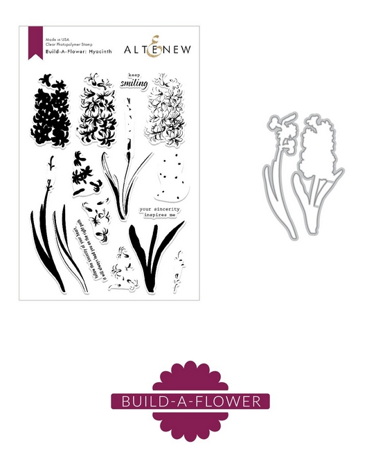 Altenew BUILD A FLOWER HYACINTH Clear Stamp and Die Set ALT2902 zoom image