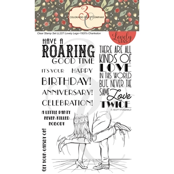 Colorado Craft Company Lovely Legs CHARLESTON Clear Stamps LL227