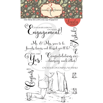 Colorado Craft Company Lovely Legs ENGAGEMENT Clear Stamps LL226