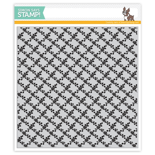 Simon's Exclusive Rose Lattice Background Cling Stamp