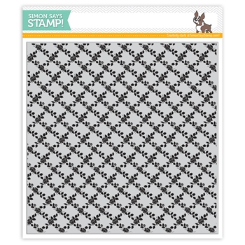 Simon Says Cling Rubber Stamp ROSE LATTICE BACKGROUND sss101969