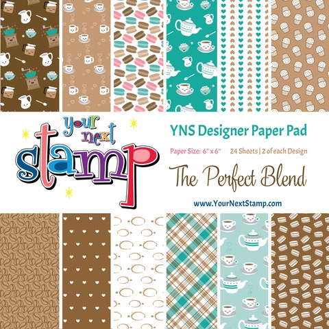 Your Next Stamp THE PERFECT BLEND 6X6 Paper Pack ynspp026 zoom image