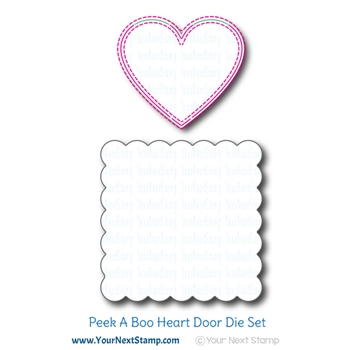 Your Next Die PEEK A BOO HEART DOOR ynsd826