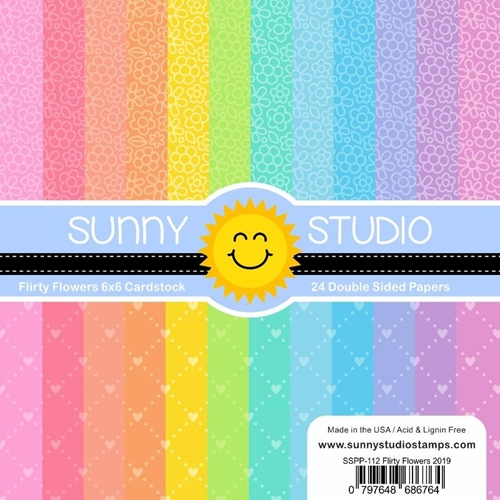 Sunny Studio FLIRTY FLOWERS Paper Pad SSPP-112 Preview Image