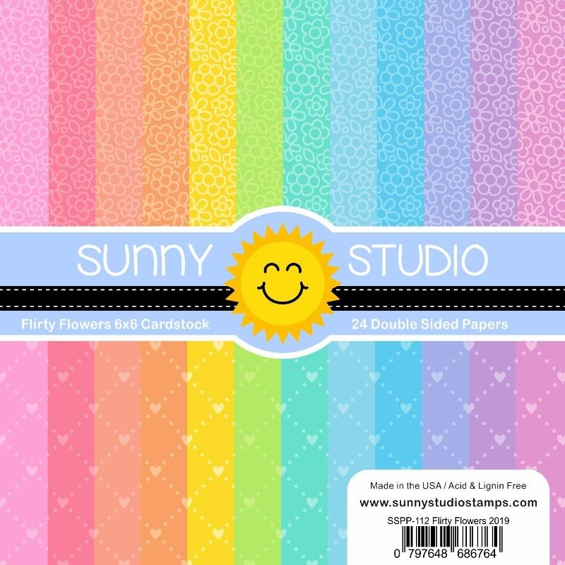 Sunny Studio FLIRTY FLOWERS Paper Pad SSPP-112 zoom image