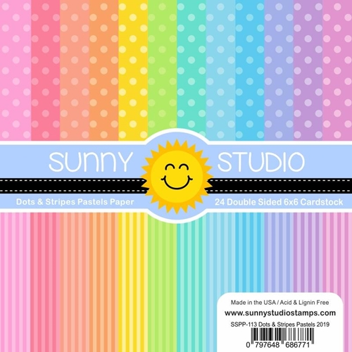 Sunny Studio DOTS AND STRIPES PASTELS Paper Pad SSPP-113 Preview Image