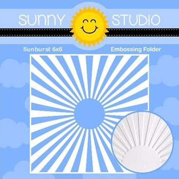 Sunny Studio SUNBURST Embossing Folder SSMB-104