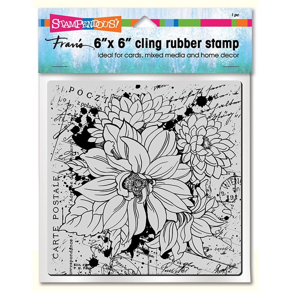 Stampendous Dahlia Collage Cling Stamp