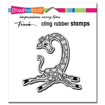 Stampendous Cling Stamp YOGA GIRAFFE crq242