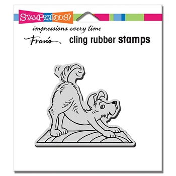 Stampendous Cling Stamp DOWNWARD DOG crv344