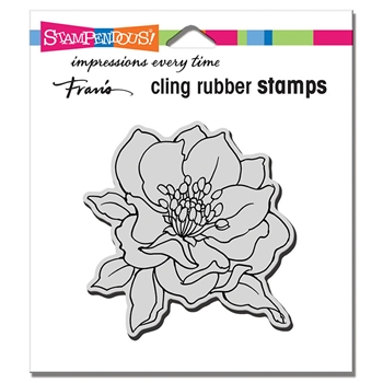 Stampendous Cling Stamp SMALL HELLEBORE crq241