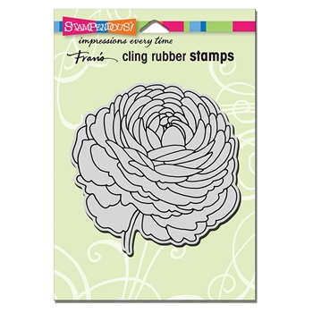 Stampendous Cling Stamp SINGLE RANUNCULUS crw206