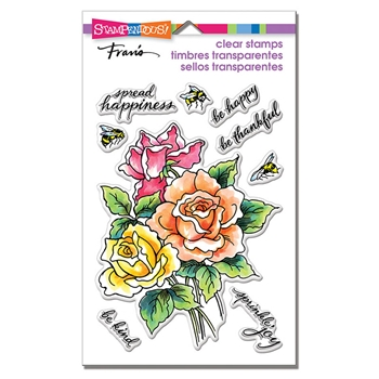 Stampendous Clear Stamp Set ROSES BE HAPPY ssc1301