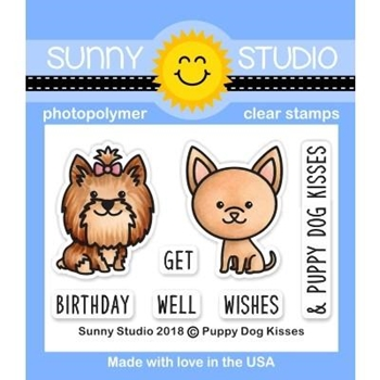 Sunny Studio PUPPY DOG KISSES Clear Stamps SSCL-224
