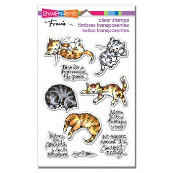 Stampendous Clear Stamp Set KITTY THERAPY ssc1304