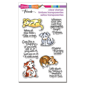 Stampendous Clear Stamp Set PUPPY THERAPY ssc1305