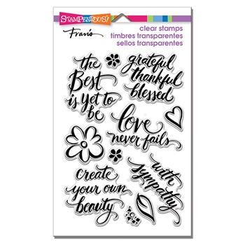 Stampendous Clear Stamp Set SCRIPT SAYINGS ssc1308