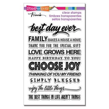 Stampendous Clear Stamp Set BEST DAY ssc1309