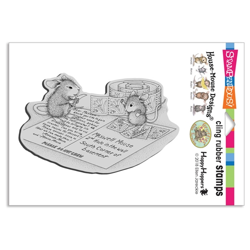 Stampendous Cling Stamp POSTCARD MICE hmcp106 House Mouse Preview Image