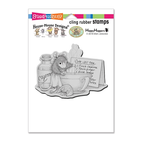 Stampendous Cling Stamp CURE ALL TEA hmcp107 House Mouse Preview Image