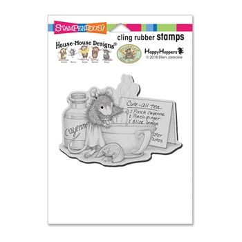 Stampendous Cling Stamp CURE ALL TEA hmcp107 House Mouse