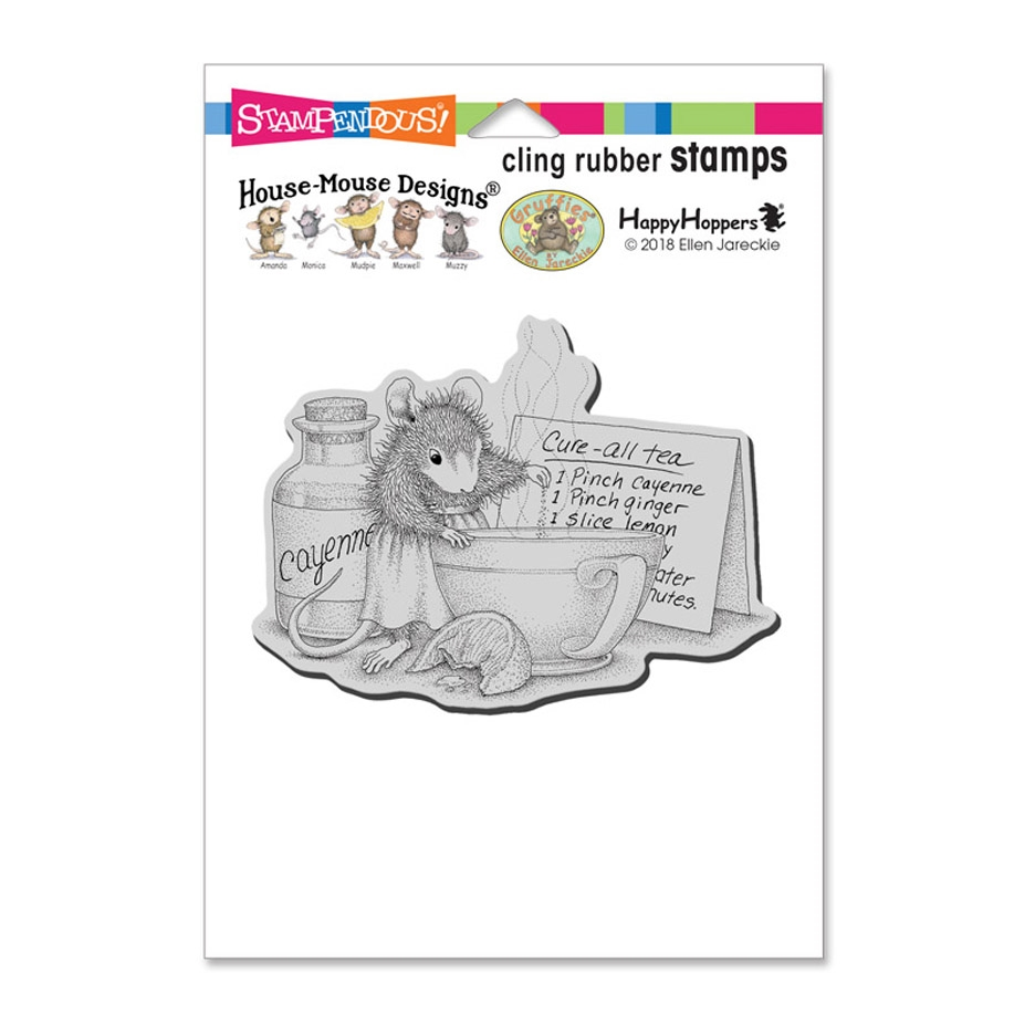 Stampendous Cling Stamp CURE ALL TEA hmcp107 House Mouse zoom image