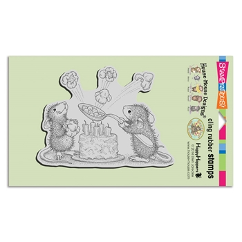 Stampendous Cling Stamp POPCORN BIRTHDAY hmcr125 House Mouse
