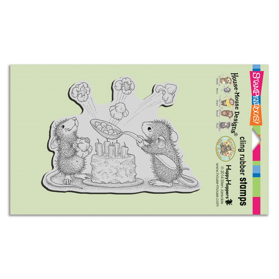 Stampendous, House Mouse  Popcorn Birthday Cling Stamp