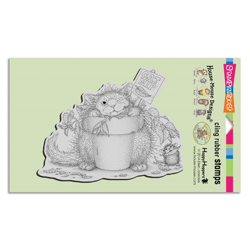 Stampendous Cling Stamp CATNIP SNACK hmcr126 House Mouse Preview Image