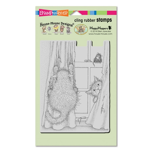 Stampendous, House Mouse, Curtain Cats Cling Stamp