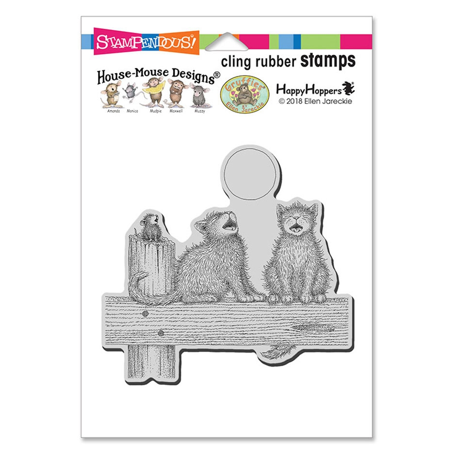 Stampendous, House Mouse Moon Song Cling Stamp