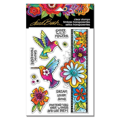 Stampendous Clear Stamps HUMMINGBIRD WISHES Laurel Burch sscl109 Preview Image