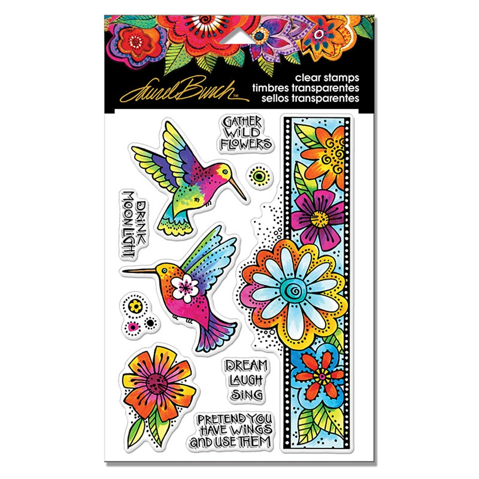 Stampendous Clear Stamps HUMMINGBIRD WISHES Laurel Burch sscl109 zoom image
