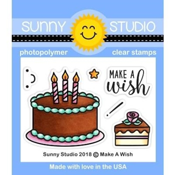 Sunny Studio MAKE A WISH Clear Stamps SSCL-223
