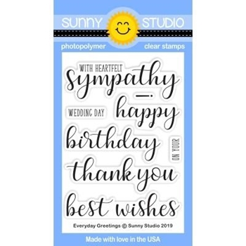 Sunny Studio EVERYDAY GREETINGS Clear Stamps SSCL-215
