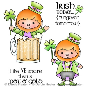 Darcie's IRISH TODAY Clear Stamp Set pol419