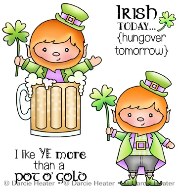 Darcie's IRISH TODAY Clear Stamp Set pol419 zoom image
