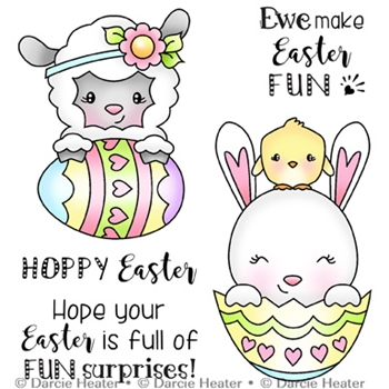 Darcie's EASTER SURPRISES Clear Stamp Set pol420