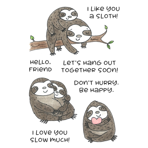 Inky Antics SINCERE SLOTHS Clear Stamp Set 11430mc Preview Image