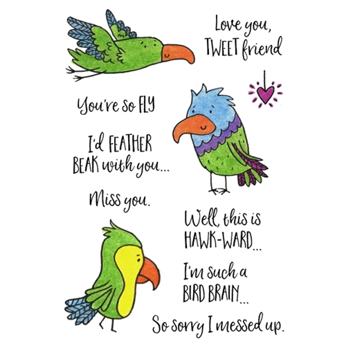 Inky Antics FEATHERED FRIENDS Clear Stamp Set 11431mc Preview Image