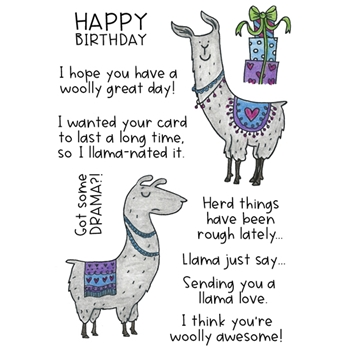 Inky Antics LOVELY LLAMAS Clear Stamp Set 11432mc