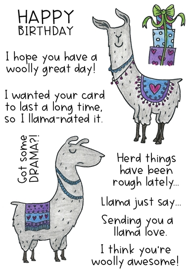 Inky Antics LOVELY LLAMAS Clear Stamp Set 11432mc zoom image