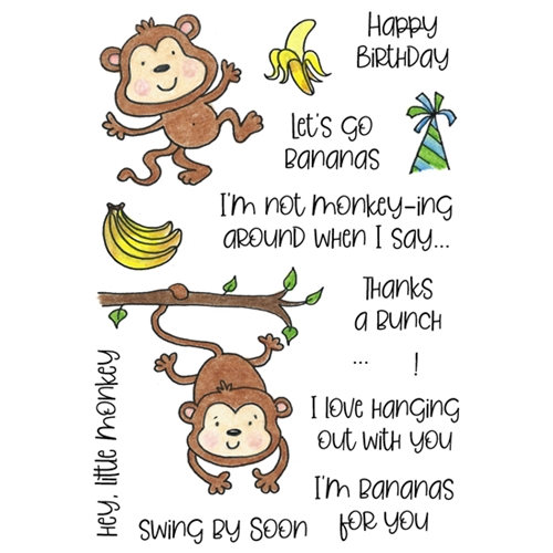 Inky Antics MERRY MONKEYS Clear Stamp Set 11433mc Preview Image
