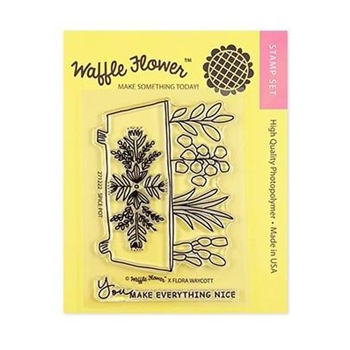 Waffle Flower SPICE POT Clear Stamp Set 271222